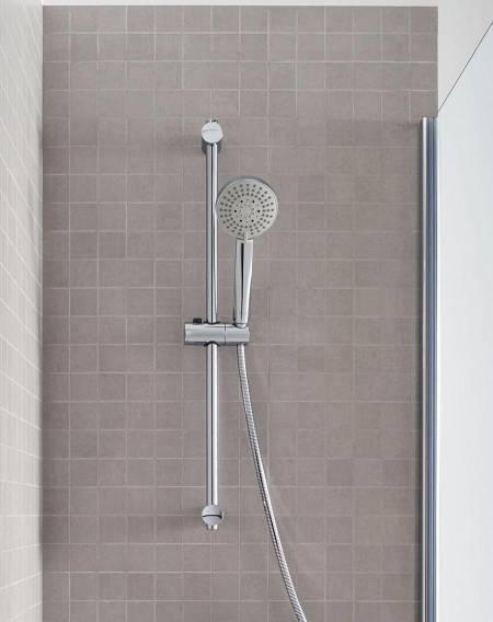 Barra deslizante com suporte para ducha da Roca